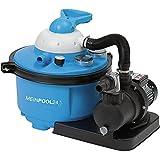 MEINPOOL24.DE Filteranlage Speed Clean Comfort 50 Poolfilter Umwälzleistung 6,6 m³/h, 230 V/450 W, 7-Wege-Ventil, Sandfilter für Pools bis 33.000 Liter, Zeitschaltuhr, 040200