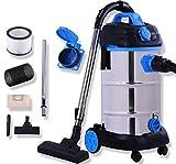 Masko® Industriestaubsauger in blau,