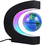 JOWHOL magnetischer schwindender Globus mit LED-Licht, automatischer Drehung, Männer und Kinder, Büro Dekoration (Blau)