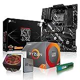 dcl24.de PC Aufrüstkit [11791] AMD 7-3700X 8x3.6 GHz - 32GB DDR4, X570-A Mainboard Bundle Kit, ohne onBoard Grafik, eigenständige Grafikkarte notwendig
