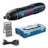 Bosch Professional Akkuschrauber Bosch GO (inkl. 25-tlg. Bit-Set, USB-Ladekabel, L-BOXX Mini) - Amazon Exclusive