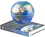 infactory Schwebende Kugel: Freischwebende Deko-Leuchte mit beleuchtetem Globus und Magnet-Basis (Globen)