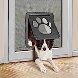 PET LESO Hundeklappe für Fliegengittertür Hundetür Fliegengitter Freiheit für Haustiere ein- oder aussteigen Haustierklappe Fliegengitter Katzenklappe für Hunde/ Katzen